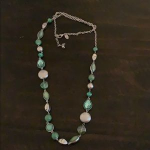 Green/silver necklace